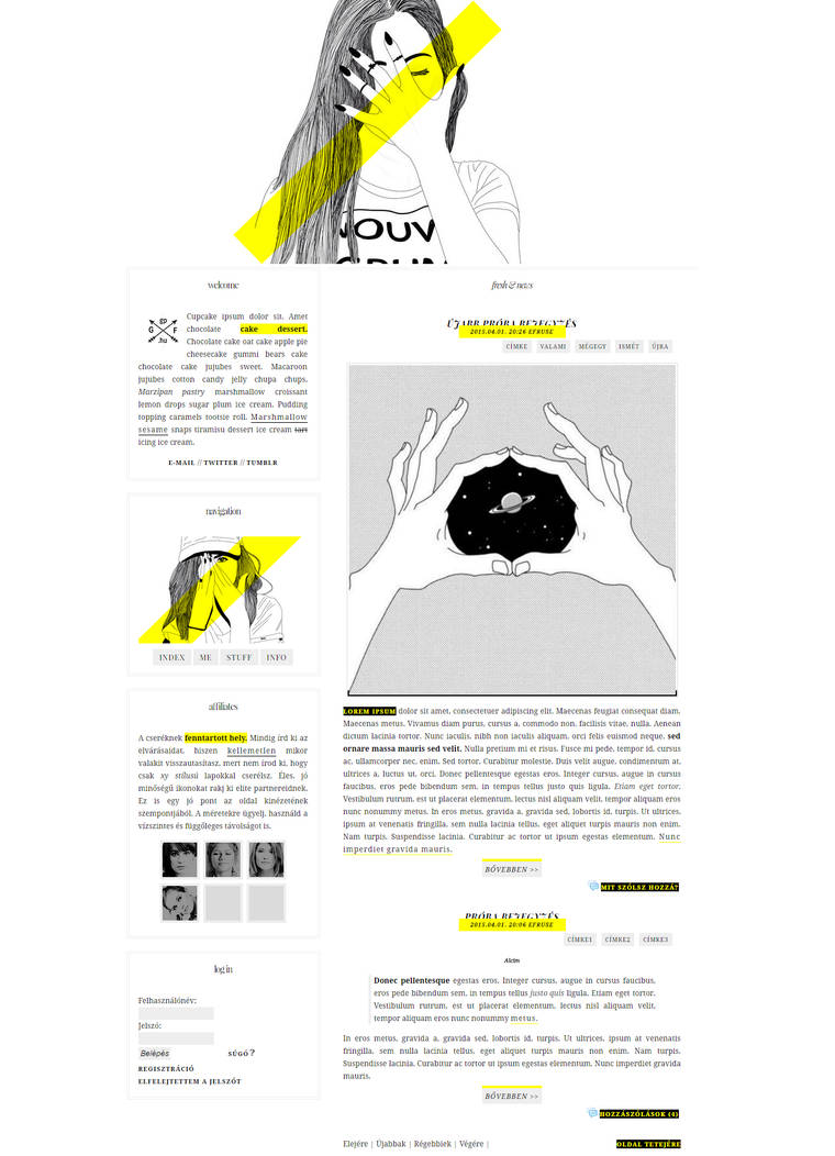 Blog design for G-Portal sites 002# by Efruse