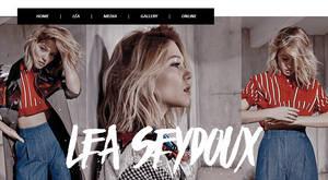 Lea Seydoux PSD header by Efruse
