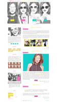 Free G-Portal fansite theme with Lucy Hale