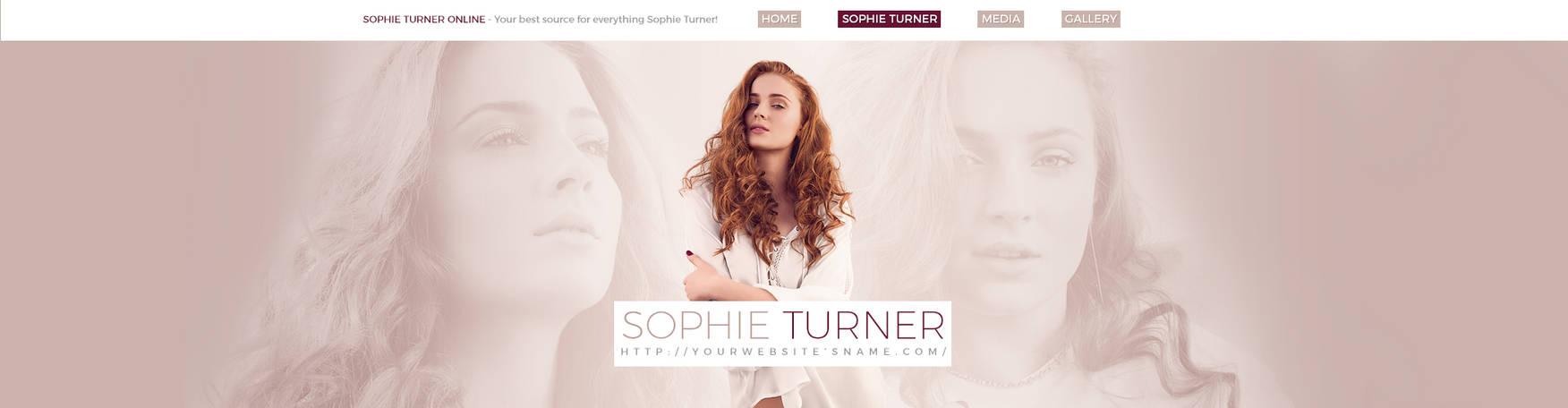Sophie Turner PSD header