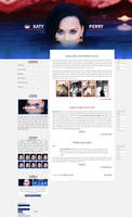 Free G-Portal fansite theme with Katy Perry