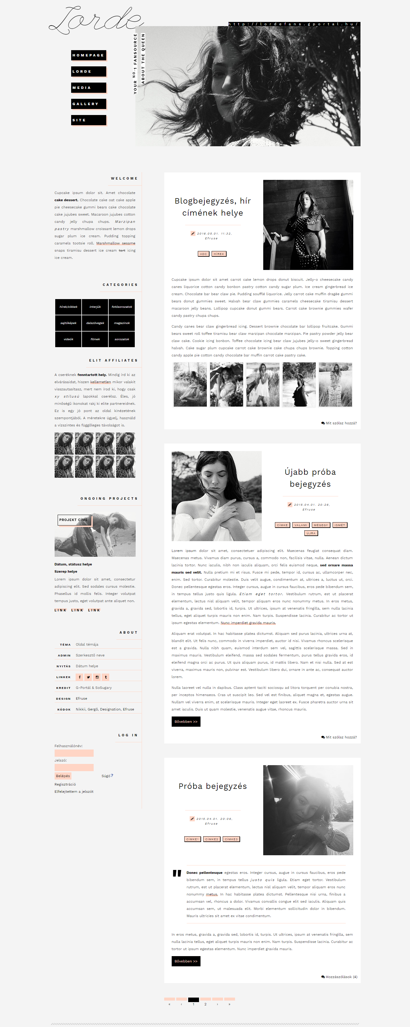 0003# free G-Portal layout with Lorde by Efruse