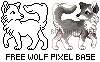 Wolf or Canine Pixel Base - Free to Use! by RussianBlues