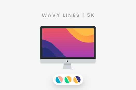wavy lines   5K  Wallpaper Pack
