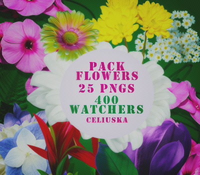 PackFlowers_pngs_Celiuska by Celiuska