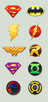 DC Comics custom icons by buggeye