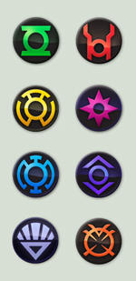 DC Blackest Night custom icons by buggeye