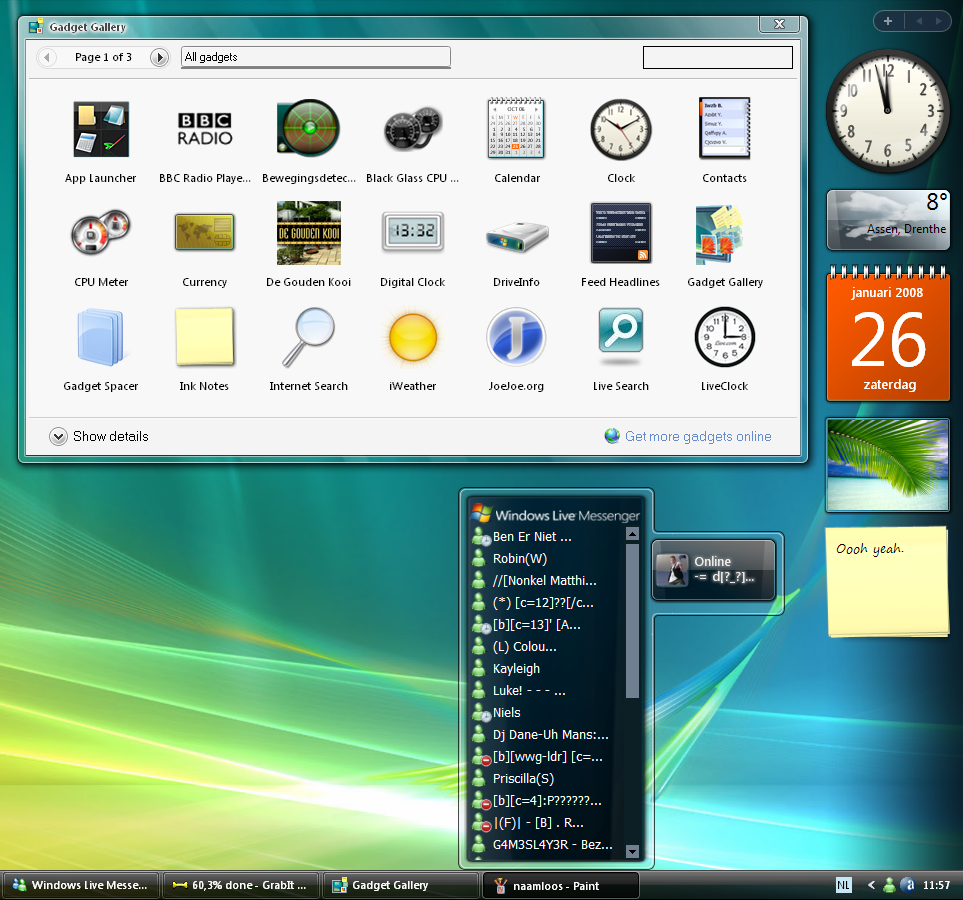 Windows Sidebar, Real one,Pack by joshoon on DeviantArt