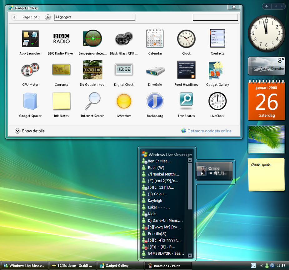 Windows Sidebar, Real one,Pack by joshoon
