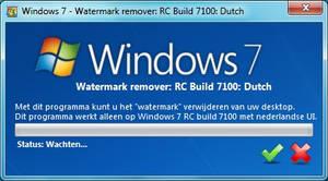 Windows 7 RC Watermark remover