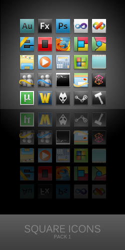 Square Icons for Win7-Shine 1 by zainadeel