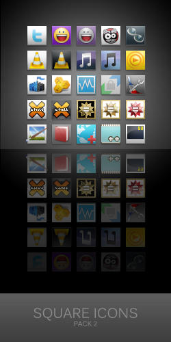 Square Icons for Win7-Shine 2 by zainadeel