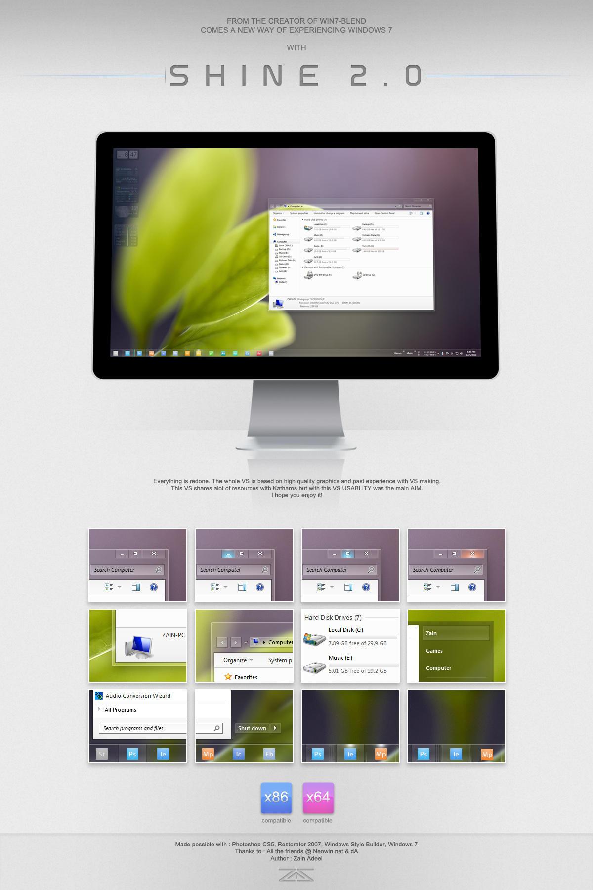 Shine 2.0 for Windows 7 by zainadeel