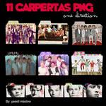 Pack 11 carpetas PNG de One Direction