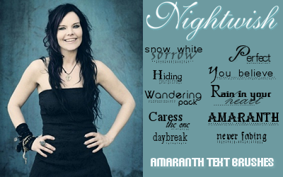 Nightwish Text Brushes by Rauvinne