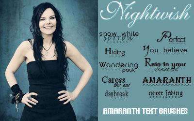 Nightwish Text Brushes by Rauvinne