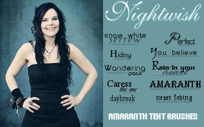 Nightwish Text Brushes