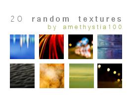 20 Random Textures by Rauvinne