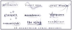 Nightwish Lyric Brushes