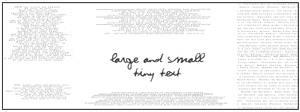 Medium and Large Tiny Text 1