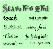 Season's End Text Brushes by Rauvinne