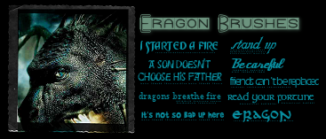 Eragon Text Brushes by Rauvinne