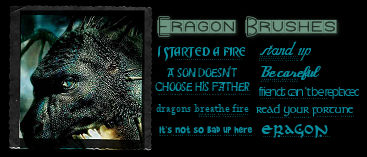 Eragon Text Brushes