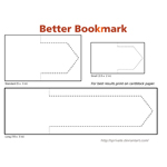 Better Bookmark Templates by WarBrown