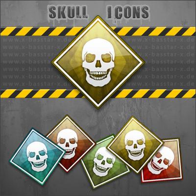 Skull Dock Icons by basstar