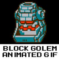 8-Bit Block Golem Animation by hfbn2
