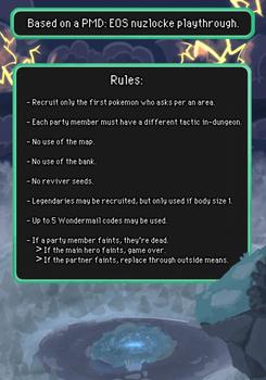 On Borrowed Time: PMD:EOS Nuzlocke Rules