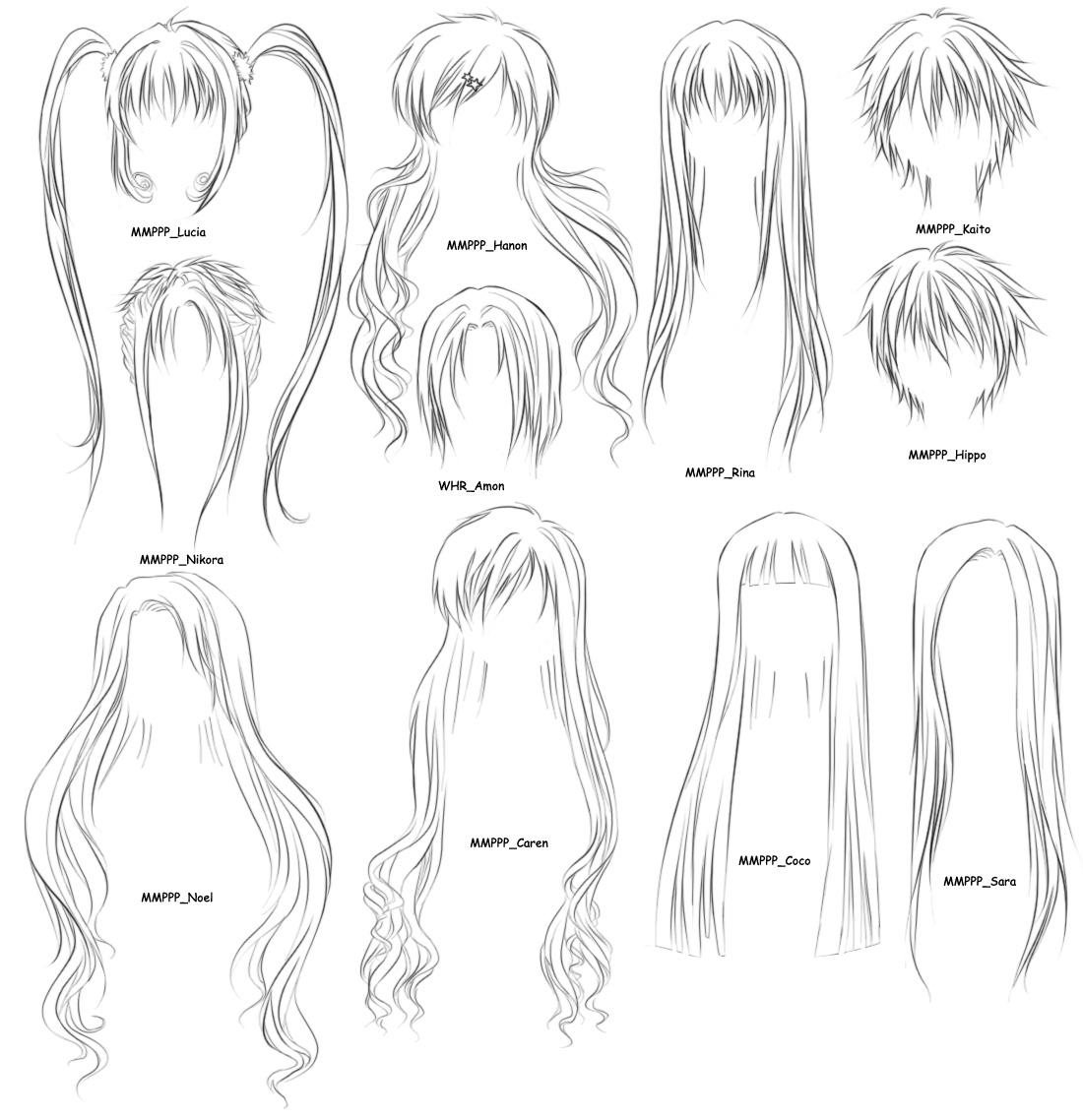 Anime hair brushes 2