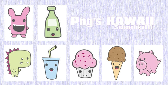 Pack Png's Kawaii by selenatika111