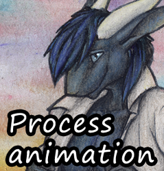 Step-by-step: ACEO commission: Lunescale by Samantha-dragon