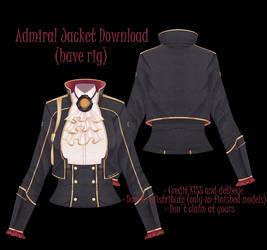 [mmd] CM3D2 Admiral Jacket [download] by detheye