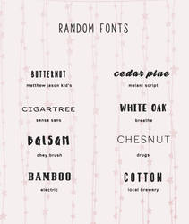 Font Pack #14 @wfres by wildfireresources