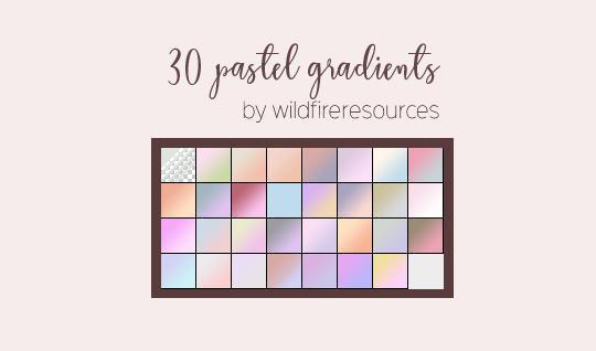 pastel gradients @wfres