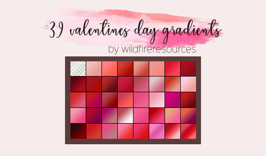 valentines day gradients @wfres by wildfireresources
