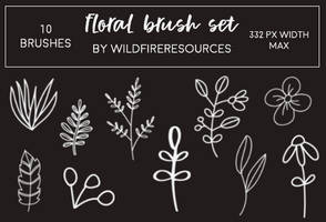 floral brushes by wildfireresources