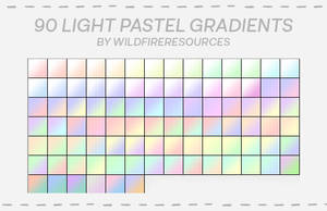 light pastel gradient pack by wildfireresources