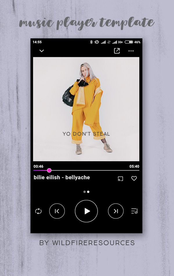 music player template by wildfireresources by wildfireresources