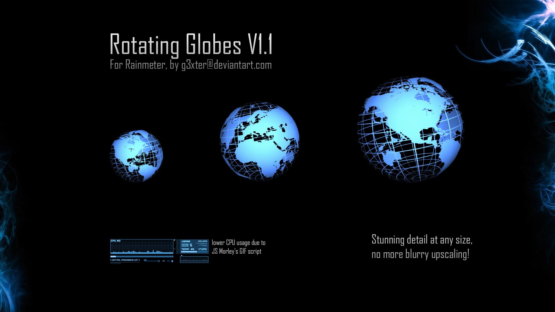 Rotating Globes V1.1 by g3xter