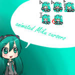 Animated Miku cursors