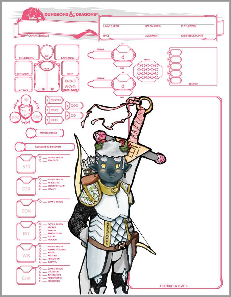 Character Sheet: DnD 5e! by Wilbert-the-Dreamer on DeviantArt