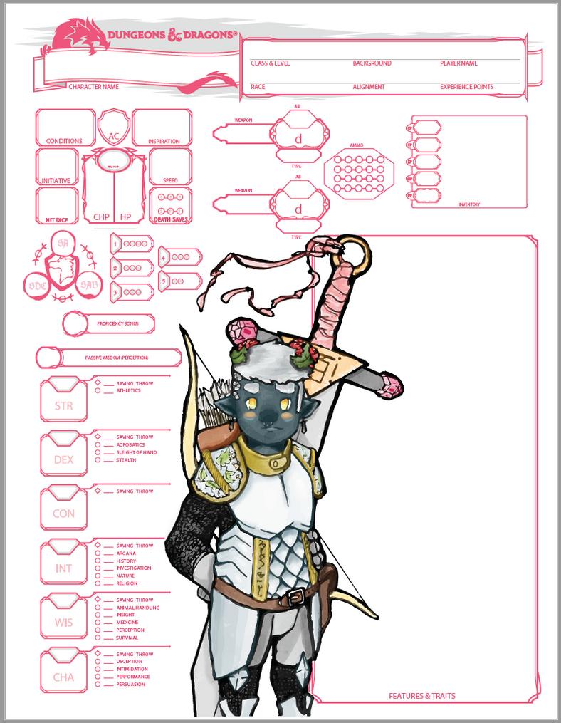 pdf writable d&d 5e character sheets