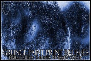 Grunge Paint Print Brushes by dementeddingo