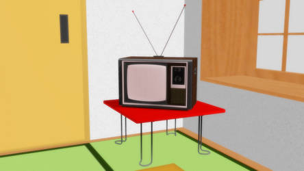 [Sketchup to MMD] Generic 1970s Style TV set