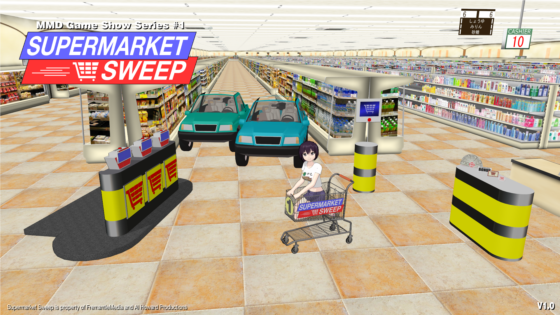 MMD Game Show Series #1] Supermarket Sweep v1 0 by