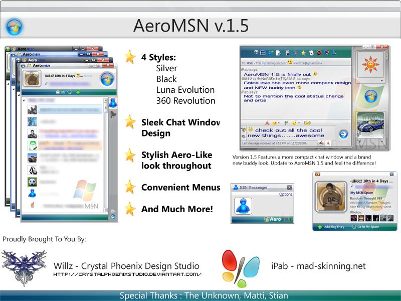 Skin Aero Vista pour Msn Messenger 7.5 Aero_MSN_v_1_5_by_CrystalPhoenixStudio