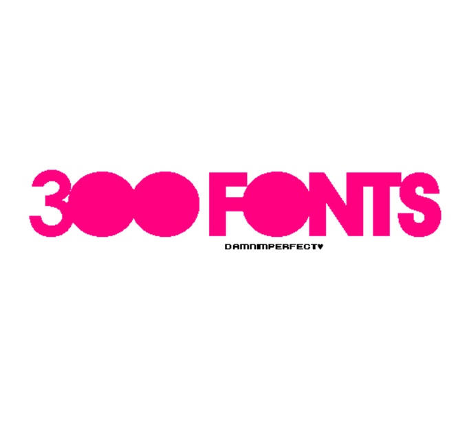 3OO fonts by damnimperfect